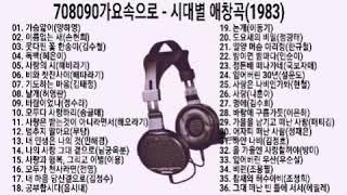708090 시대별 애창곡(1983)