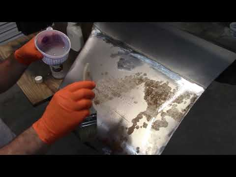Repairing a rusted fender on a 67/68 Mustang (2) Jade part 27