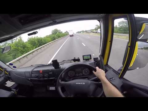 Hairy Trucker drivers eye view  Avonmouth to Gloucester
