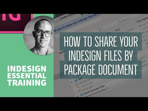 How To Share Your InDesign Files By Package Document - Essential InDesign Training [18/76]