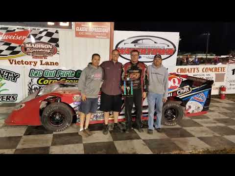 Jeff Crouse Racing.   Feature win at Madison Speedway.  9/10/17