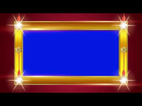 Wedding Frame Blue Background Video Effects HD 1080p thumbnail