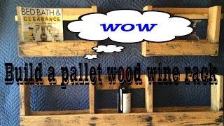 Pallet wine rack 2