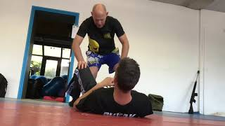 Defending vs Punches on the Ground, attacker between legs or mounted, with Amnon Darsa.