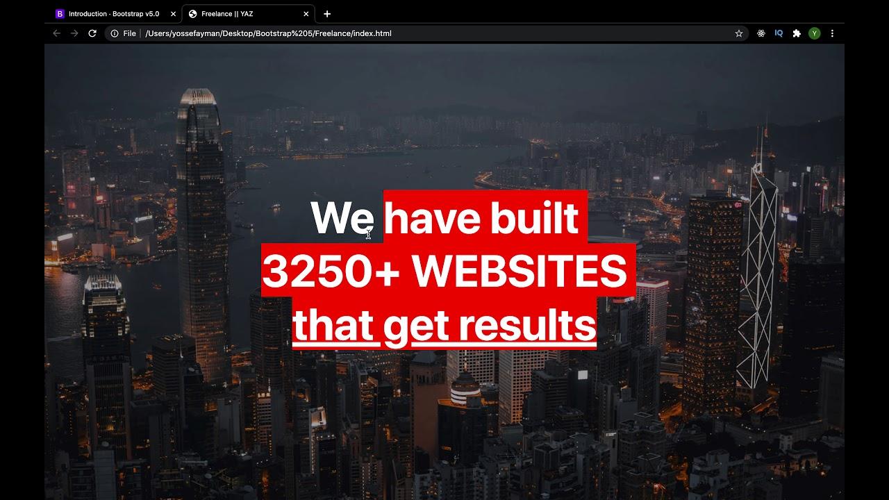 Build responsive website using HTML5, CSS3 & bootstrap 5 responsive web design tutorial bootstrap