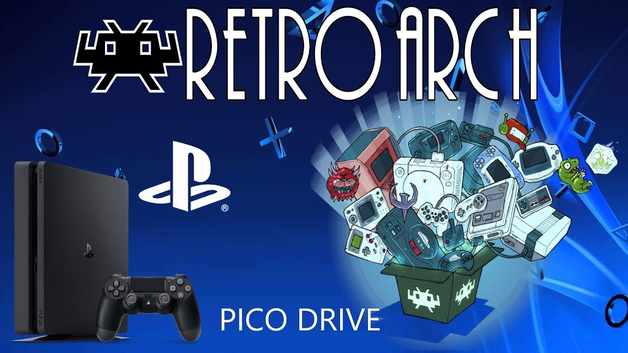 RetroArch QuickNES & Picodrive PS2 on PS4 Emulator Ports