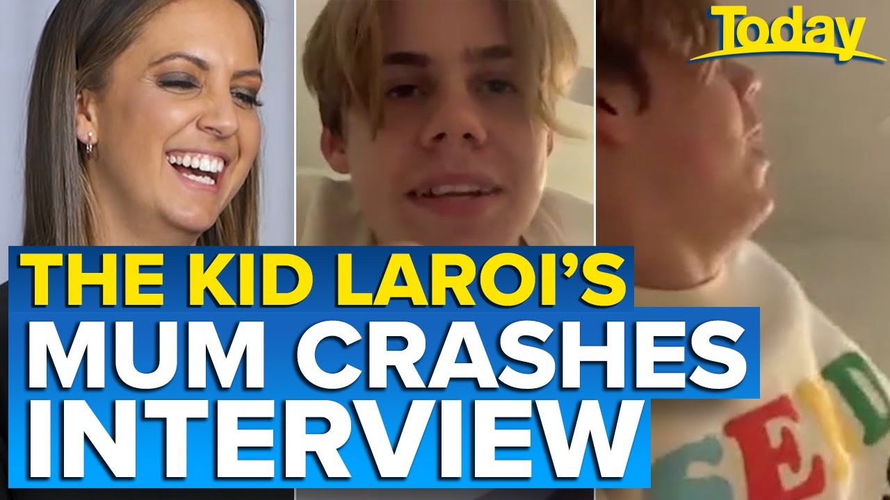 The Kid LAROI's mum interrupts interview ? | Today Show Australia