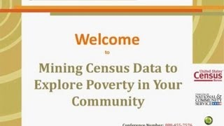 Mining Census Data to Explore Poverty in Your Community