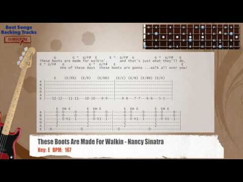 These Boots Are Made For Walkin - Nancy Sinatra Bass Backing Track with chords and lyrics