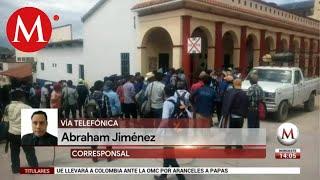 Campesinos intentan retener a alcaldesa de Simojovel, Chiapas