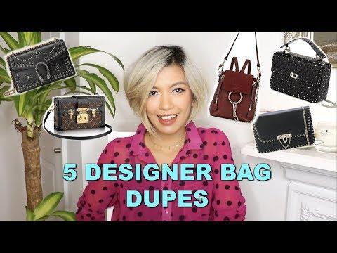 5 Designer Bag Dupes || Gucci Chloe Valentino Louis Vuitton