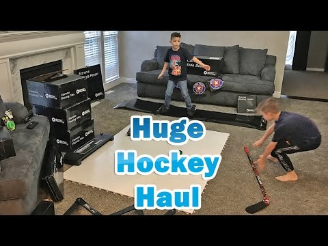 Kids HocKey Huge Off Ice Hockey Haul   Surprise Order From Dusty