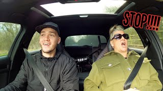 Trying to scare my Mom in my Audi RS3!