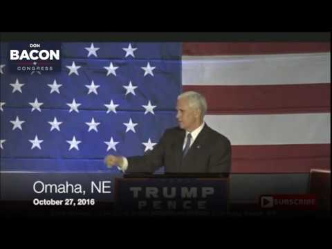Vice-Presidential nominee Mike Pence Endorsement | Don Bacon for Congress