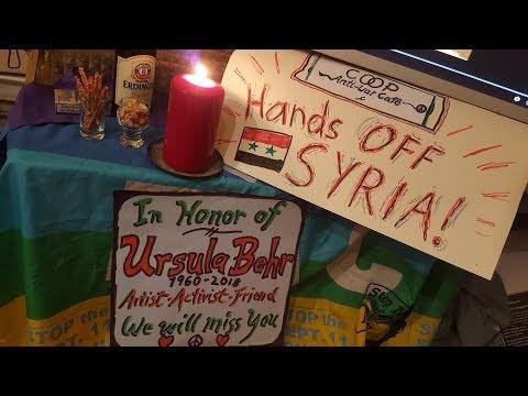 Memorial/Trauerfeier für Ursula Behr † 9. Oktober 2018 in Damaskus - Hands off Syria !