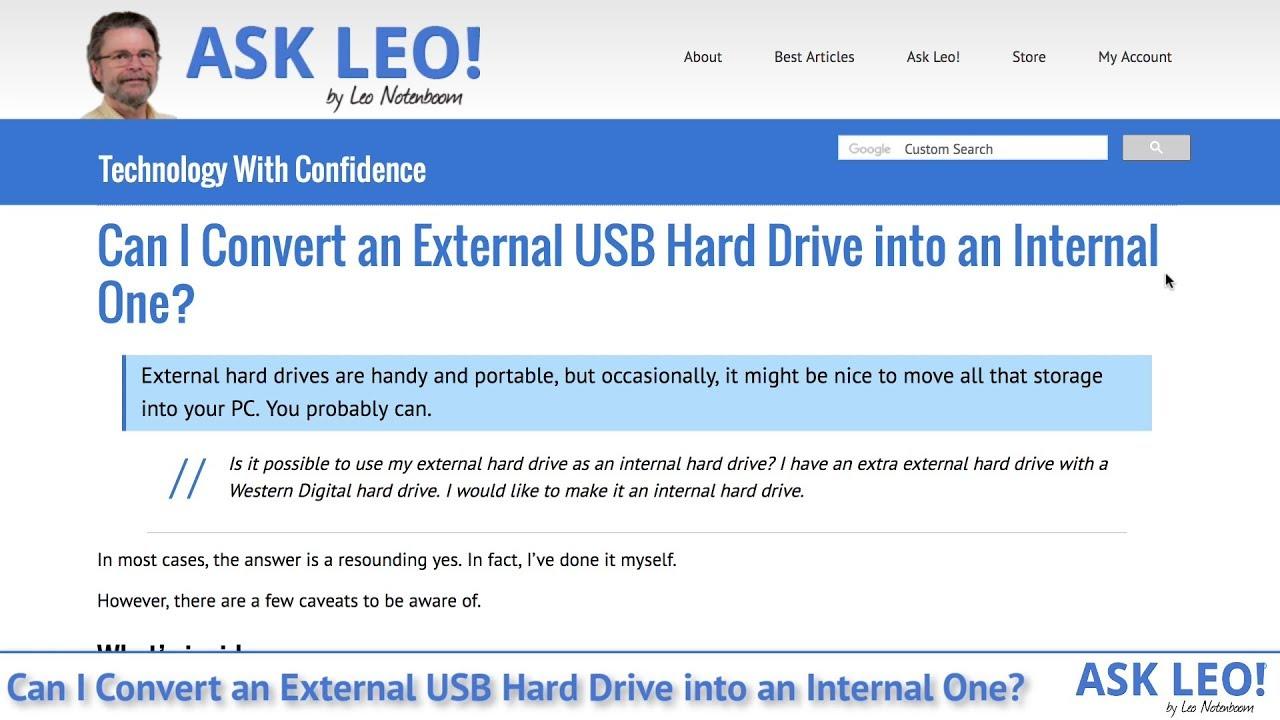 Can I Convert an External USB Hard Drive into an Internal One? - Ask