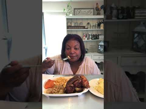 Soul Food Mukbang With Smoked Ham Hock And Cabbage