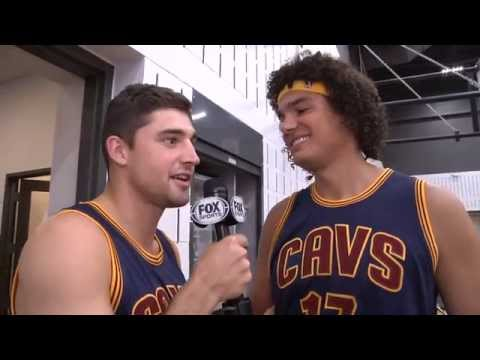 Joe Harris takes over the mic at Cleveland Cavaliers Media Day