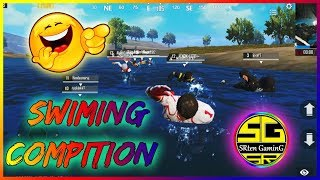 #SWIMMING #COMPETITION IN PUBG MOBILE #FUNNY VIDEO #SRtenGaminG