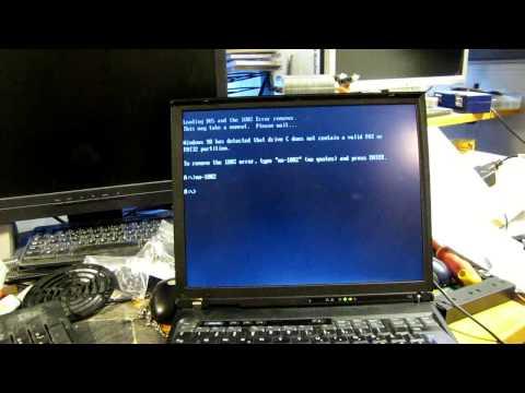 Thinkpad T40 No 1802 error