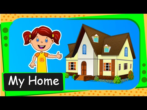 Short animated story for kids my home english youtube for Picture of my home