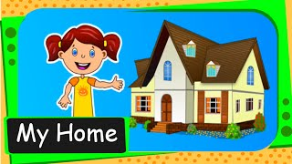 Short animated story for kids - My Home - English
