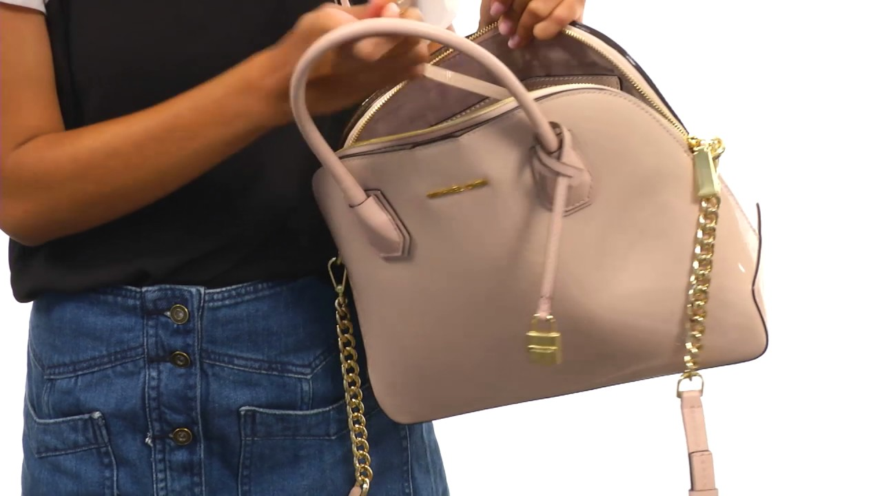 6fb326ea32c2 MICHAEL Michael Kors Mercer Large Dome Satchel SKU:8954754 - YouTube