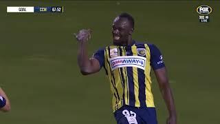 El segundo gol de Usain Bolt en el triunfo de los Central Coast Mariners (@CCMariners)