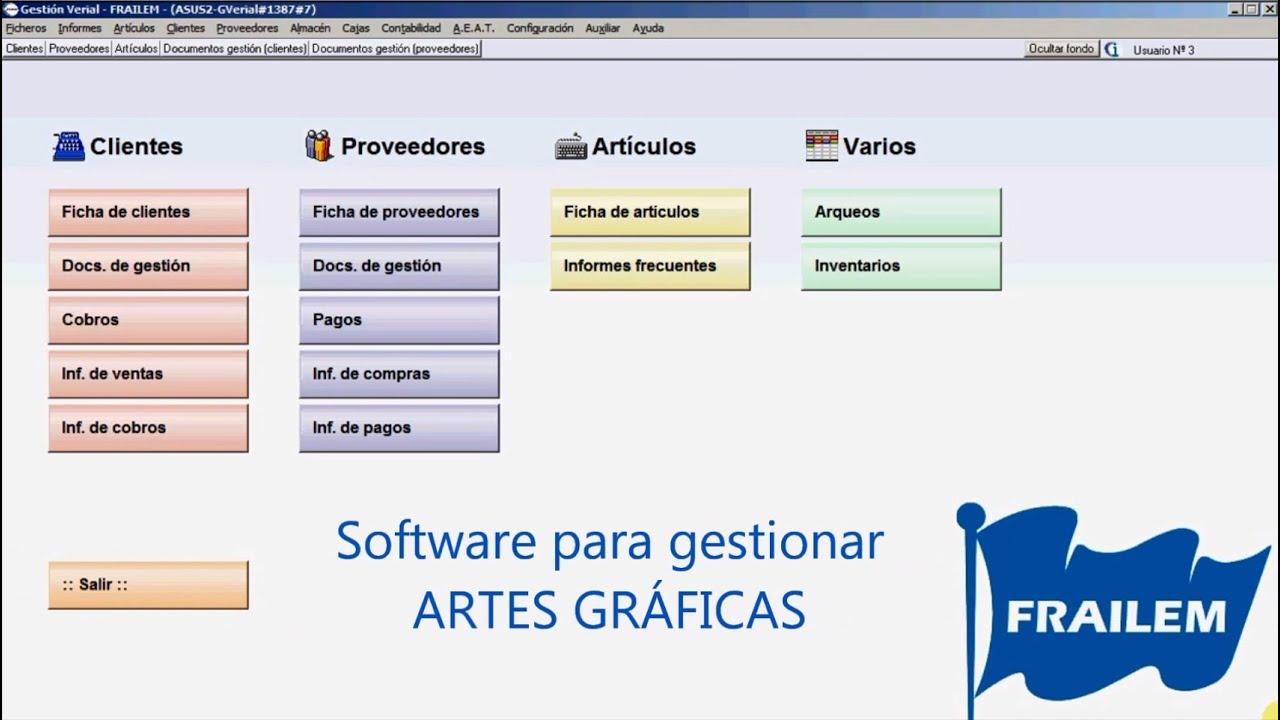 Software para gestionar artes gr ficas e imprentas youtube for Software para disenar muebles gratis
