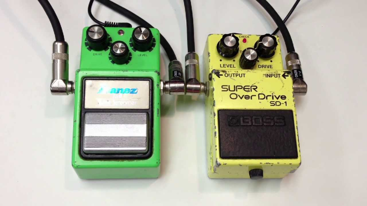IBANEZ TUBE SCREAMER TS808 VS BOSS BLUES DRIVER PC