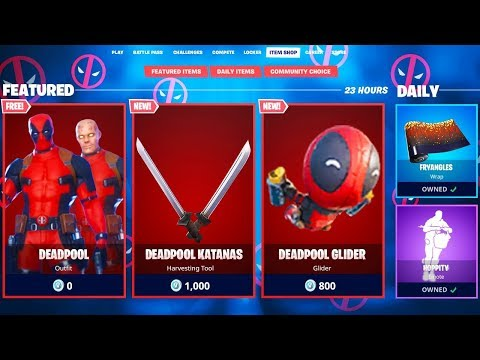 Deadpool Item Shop Added To Fortnite.. (NEW UPDATE)