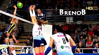 TOP 15 Best Volleyball Actions  Womens Volleyball Spikes  BrenoB