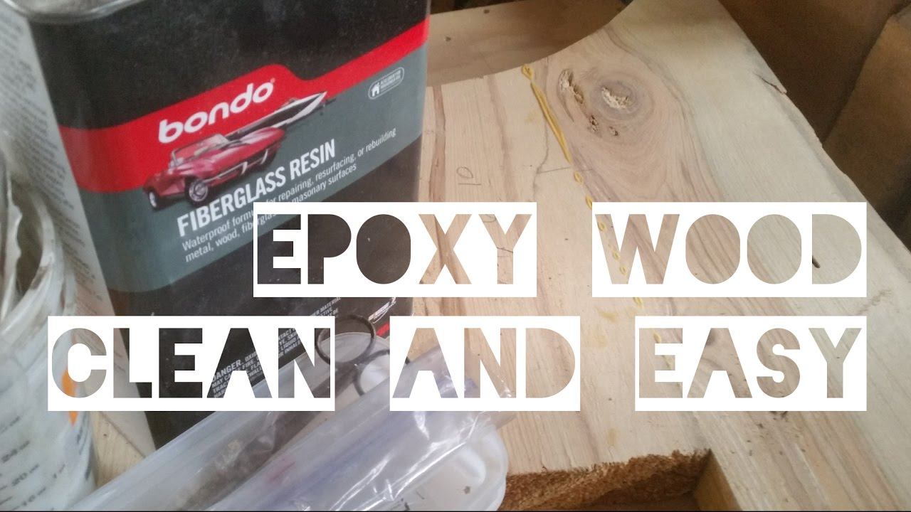 A Clean And Easy Way To Ly Epoxy On Wooden Table Tops