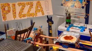 THE PIZZA MACHINE! (Pizza Making Rube Goldberg Machine)