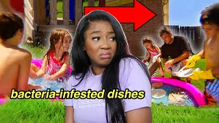This Family Washes Dishes in Dirty Pool Water | AMERICAS CHEAPEST FAMILY