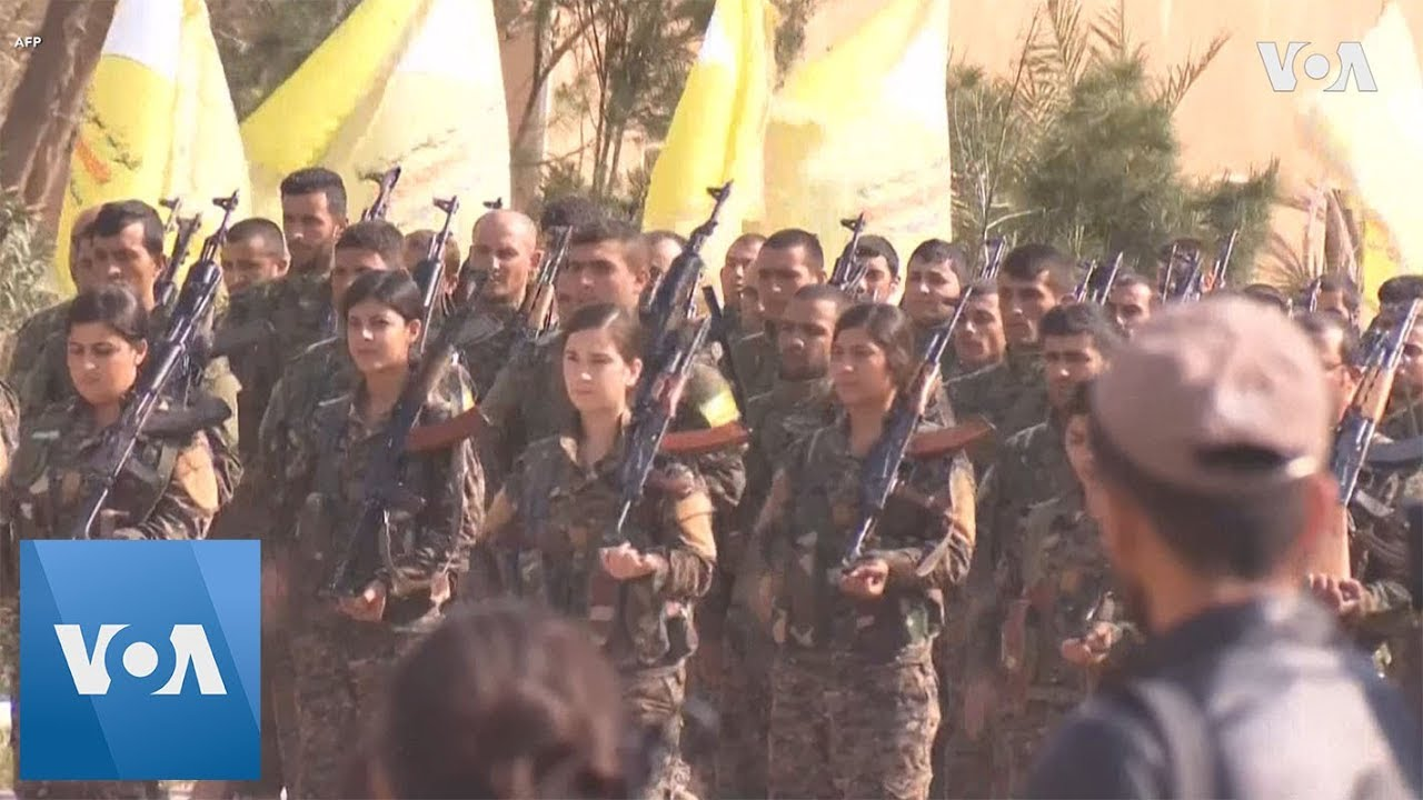 Syrian Democratic Forces Parade Announcing Victory Over Islamic State