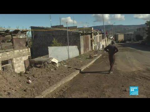 À Stepanakert, capitale fantôme du Haut Karabakh, des habitants restent malgré la guerre