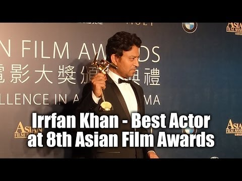 Irrfan Khan wins Best Actor at 8th Asian Film Awards