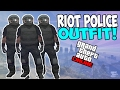 NEW RIOT POLICE ''MODDED OUTFIT GLITCH'' IN GTA 5 ONLINE! RARE RIOT POLICE Outfit Glitch Patch 1.37
