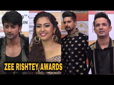 TV Star STUDDED Red Carpet of Zee Rishtey Awards   Ravi Dubey, Aditya Narayan