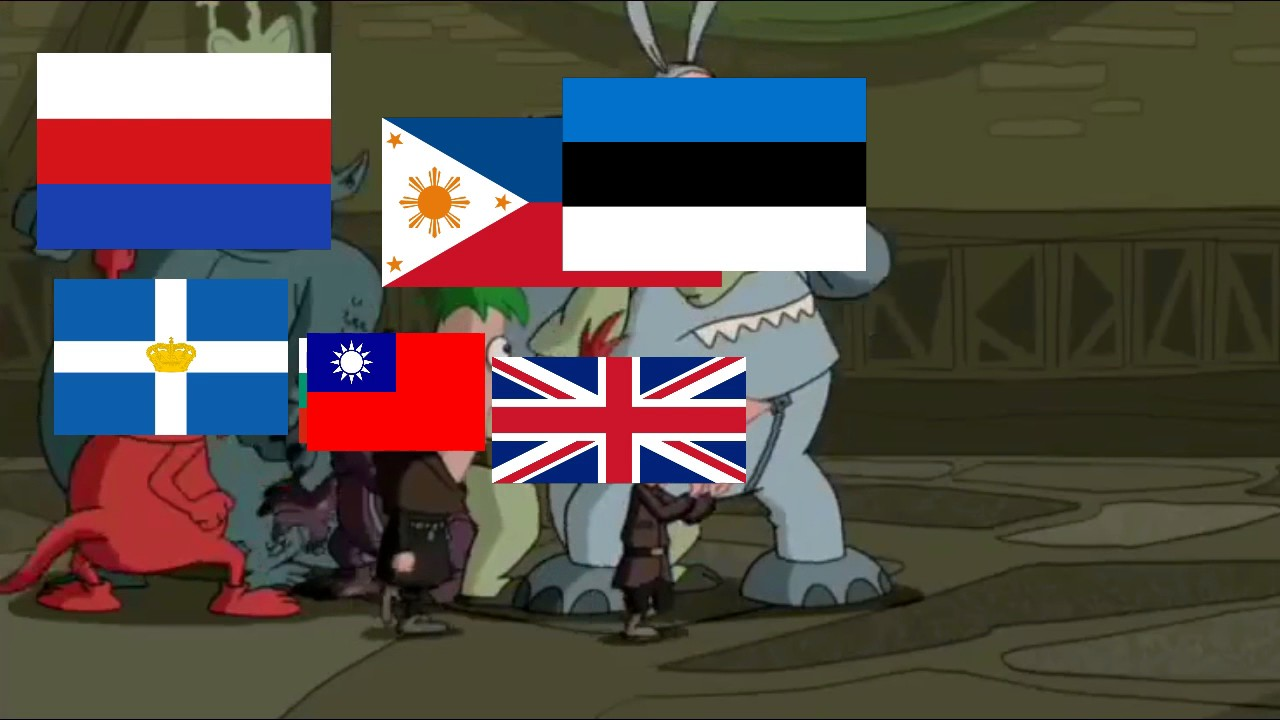 Phineas and Ferb WW2 Meme: Nation Fight! - YouTube
