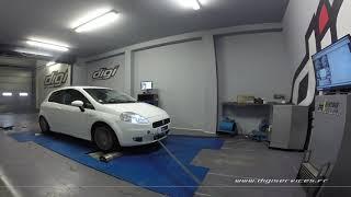 Fiat Punto 1.9 JTD 130cv Reprogrammation Moteur @ 158cv Digiservices Paris 77 Dyno