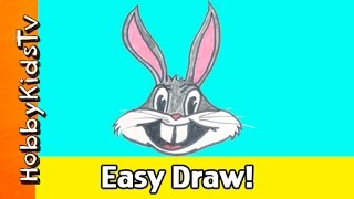 Easy Draw Bugs Bunny! Looney Tunes Arts N Crafts with Markers by HobbyKidsTV