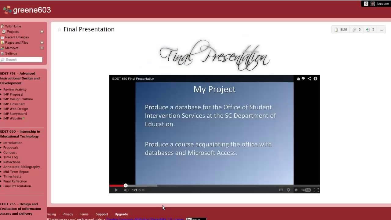 M Ed  Portfolio Presentation