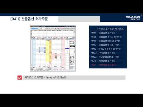 [Mirae Asset Daewoo] 24/7 Global Futures & Options trading manual, 선물옵션(국내, 야간, 해외) 메뉴 및 기본화면 안내