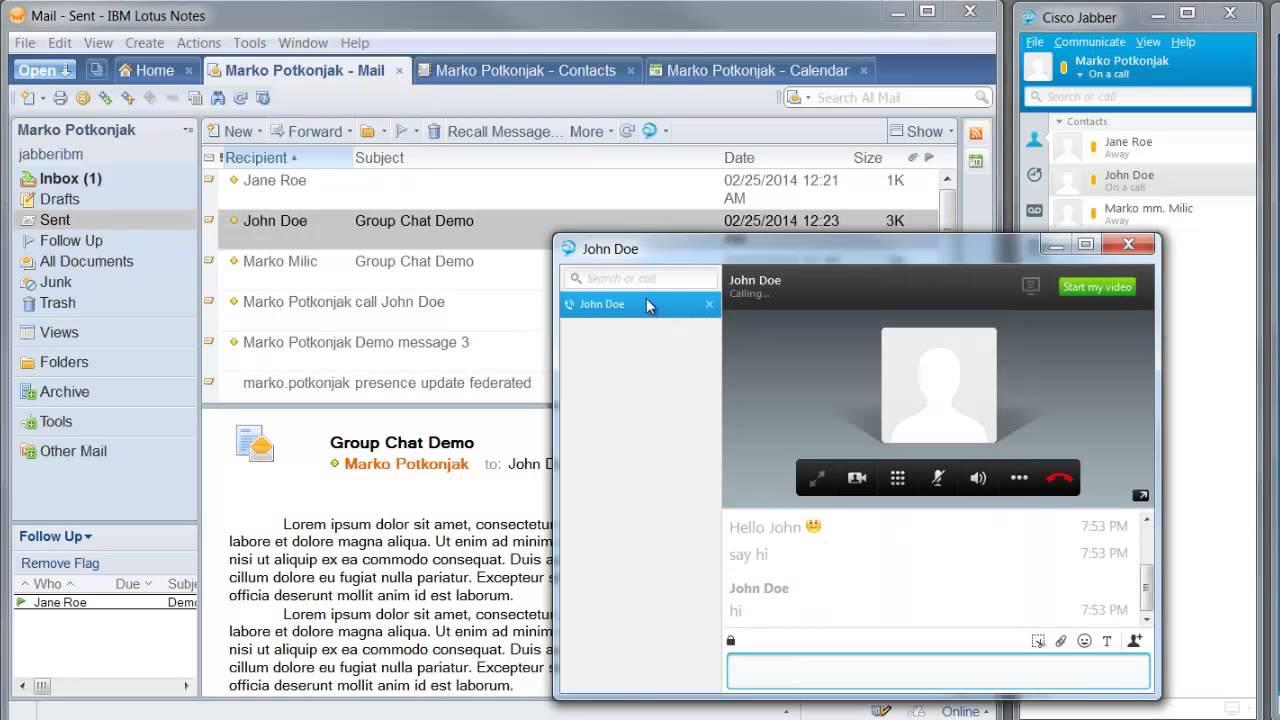 Endava (ex PSTech) Cisco Jabber Integration with IBM Notes