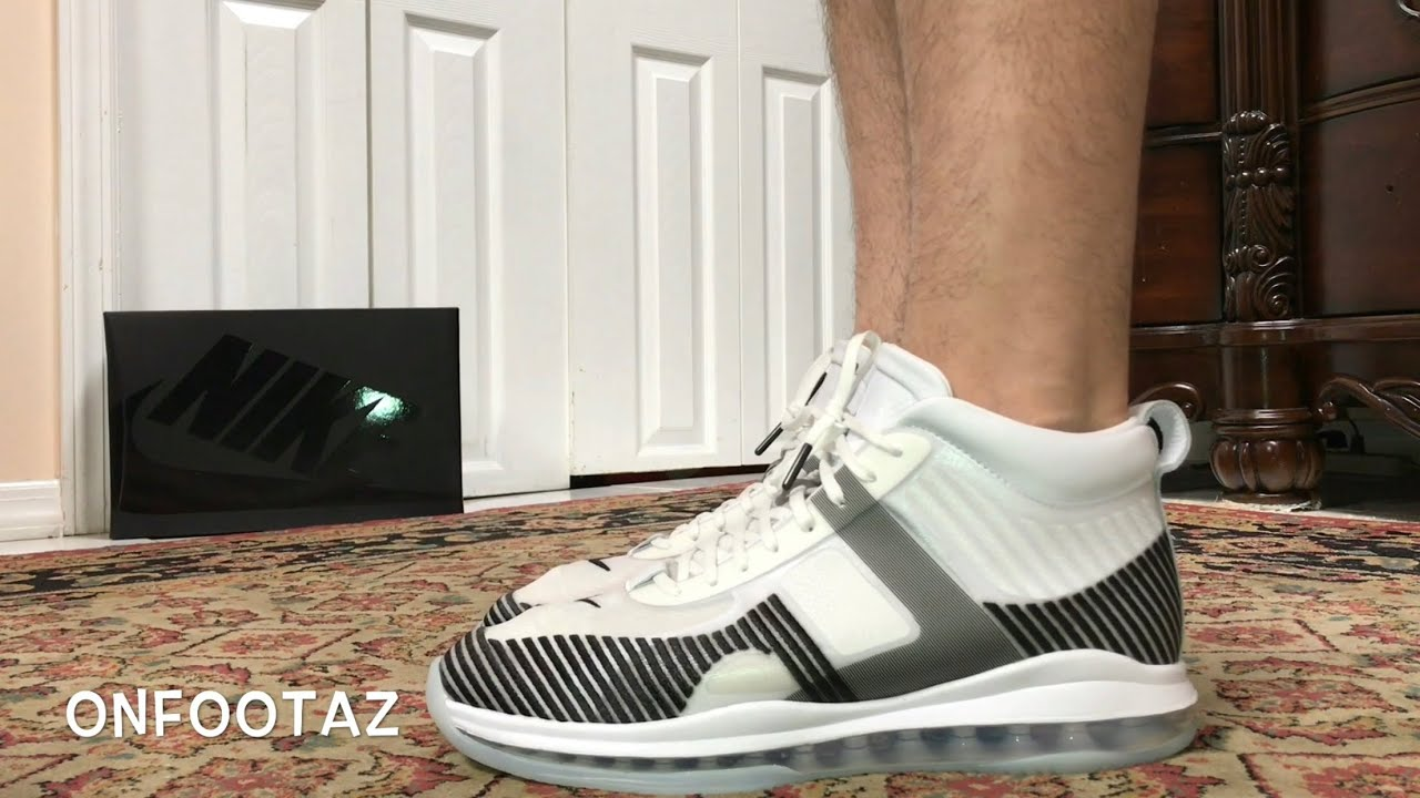 2f095607ffa2 Nike LeBron Icon John Elliott White Black On Foot - YouTube