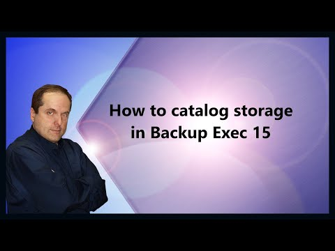 How To Catalog Storage In Backup Exec 15