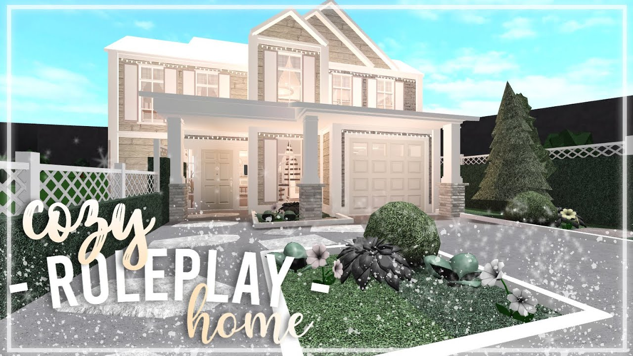 Two Story Family Home Roblox Bloxburg Houses 2 Story Roblox Bloxburg Cozy Aesthetic Family Home
