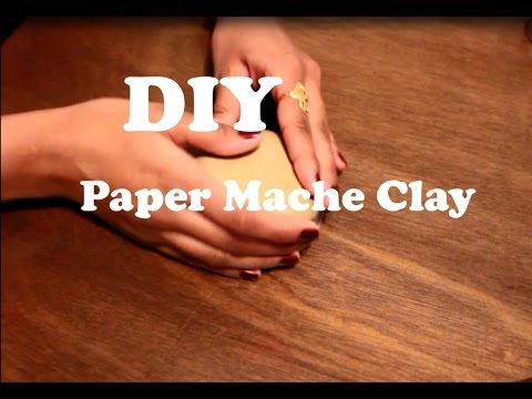 DIY Paper Mache Clay Using only 3 ingredients| Easy Paper Mache clay Recipe